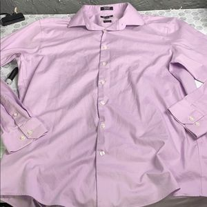 Clairborne Purple Button Up 17.5 Wrinkle Free